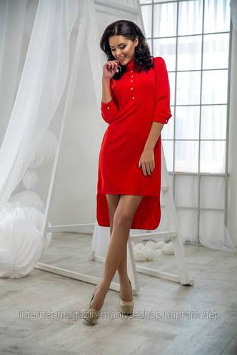 Женское платье креп 4 расцветки