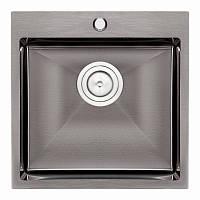 Кухонная мойка Qtap D5050BL 2.7/1.0 мм (QTD5050BLPVD10)