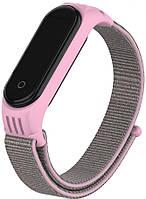 Сменный ремешок для фитнес трекера Xiaomi Mi Smart Band 5/6 Nylon Design Pink