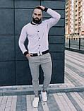 Мужской комплект белый бомбер + серые штаны, фото 2