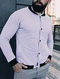 Мужской комплект белый бомбер + серые штаны, фото 4