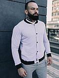Мужской комплект белый бомбер + серые штаны, фото 5
