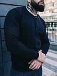 Мужской комплект черный бомбер + синие штаны, фото 2