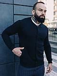 Мужской комплект черный бомбер + синие штаны, фото 3
