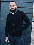 Мужской комплект черный бомбер + синие штаны, фото 4