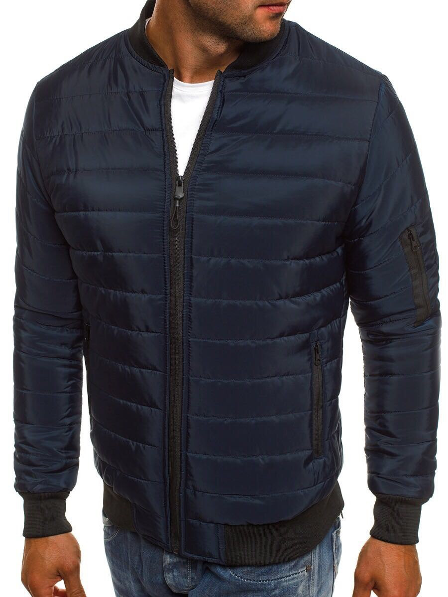 Мужская синяя куртка манжет