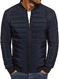 Мужская синяя куртка манжет, фото 2