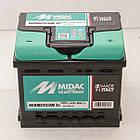 Аккумулятор автомобильный MIDAC HERMETICUM 6 СТ-12В 47Ач R+ EN450А Италия, фото 2