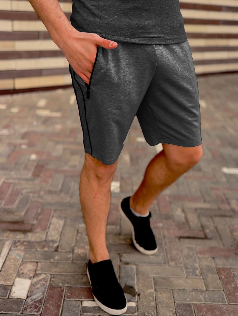 Мужские темно-серые шорты ASOS на замочках