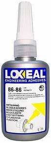 Фіксатор підшипників LOXEAL 86-86, висока міцність, високотемпературний, зазор до 0,3 мм, +230°C, 50 мл