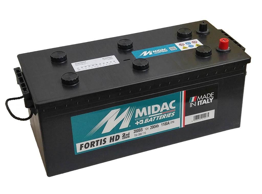 Аккумулятор грузовой MIDAC FORTIS 6-СТ 200 Ач L+ 1100 A  Италия