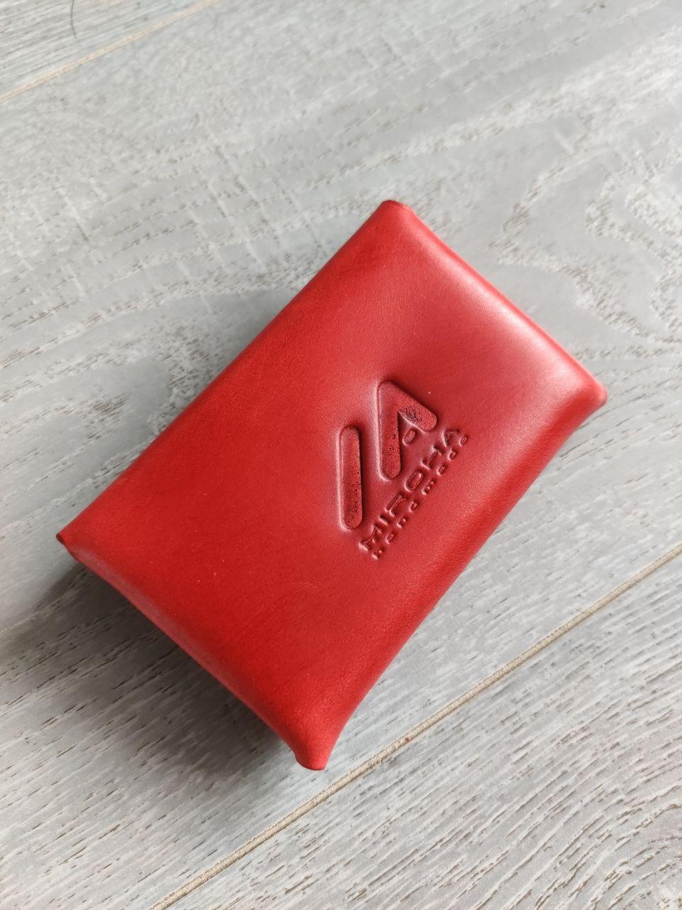 "Затискач грошей ""Miroha"" Hand Made, жіночий, червоний, шт. (арт. 029)"