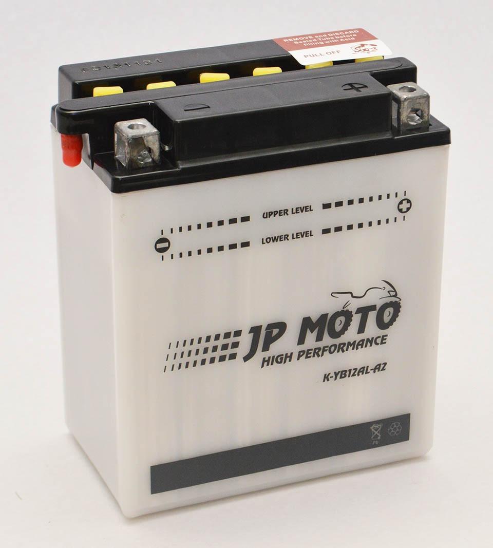 Аккумулятор мотоциклетный JP Moto 12Ah (134х80х160) 12В  R+ EN155А