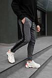 Мужские утепленные штаны с лампасом антрацит, фото 5