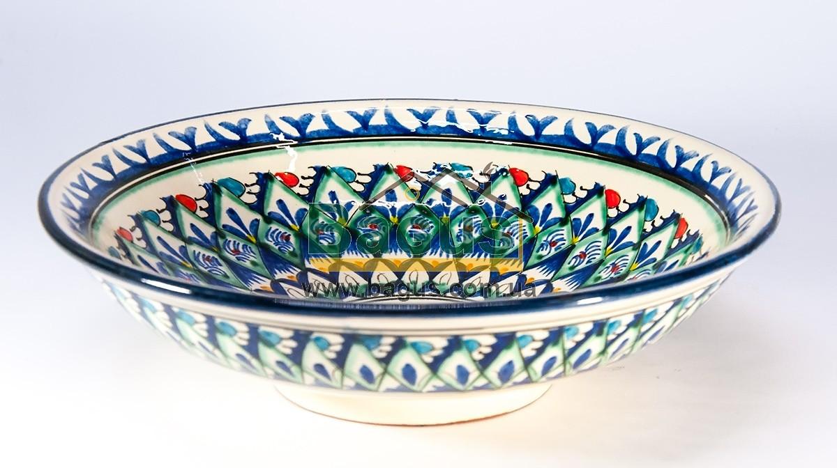 Салатник узбецький (глибока тарілка) d-23м h-6,5 см ручна робота 2306-05