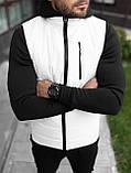 Базовая мужская жилетка Белая, фото 3