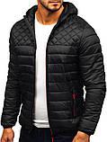 Чоловіча чорна куртка Хот з капюшоном, фото 2