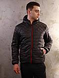 Чоловіча чорна куртка Хот з капюшоном, фото 4