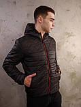 Чоловіча чорна куртка Хот з капюшоном, фото 6