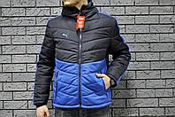 Мужская синяя с голубым куртка Puma