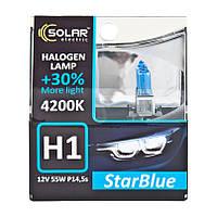 Галогенная лампа H1 Solar StarBlue+30 4200K 55W 12V 1241S2 P14,5s