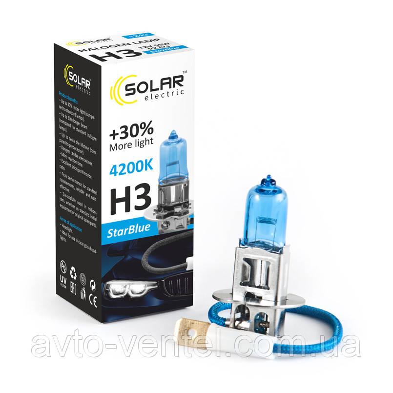 Галогенная лампа Solar H3 12V 55W PK22s StarBlue 4200K (1243)