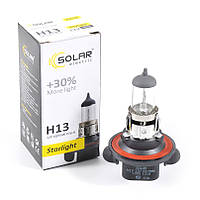 Галогенная лампа H13 Solar StarLight +30% 55/60W 3200 K 12V (1218)