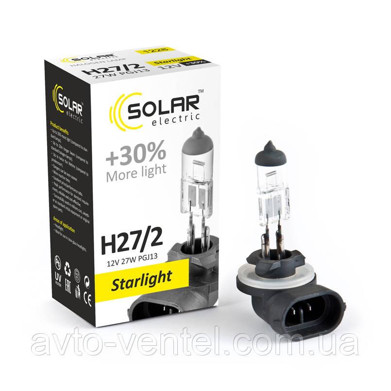 Галогенная лампа Solar H27/2 12V 27W PGJ13 Starlight +30% (1228)