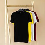 Чоловічий річний комплект чорна футболка спів і чорні шорти лампас, фото 5