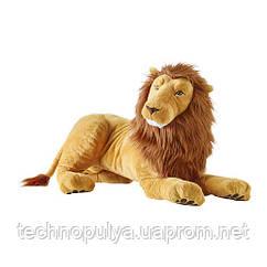 Мягкая игрушка IKEA DJUNGELSKOG Лев Коричневый (204.028.07)