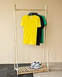 Мужской летний комплект жёлтая футболка и чёрные шорты, фото 5