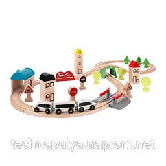 Залізниця IKEA LILLABO комплект з 45 предметів поїзд і рейки Різнобарвний (203.300.66)