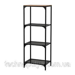 Стеллаж IKEA FJÄLLBO 50x136 см Черный (703.421.99)