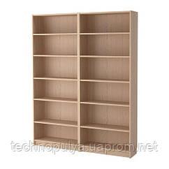 Стелаж IKEA BILLY 160x202x28 см Світло-коричневий (192.499.44)