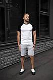 Чоловічий річний комплект двоколірна футболка і шорти меланжеві, фото 4