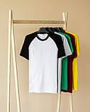 Чоловічий річний комплект двоколірна футболка і шорти меланжеві, фото 5
