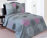 Комплект постельного белья полуторный  РАУНД розовый( нав. 70*70)