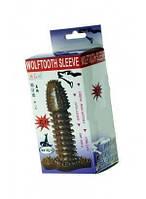 Удлиняющая насадка для пениса Wolftooth sleeve с шипами
