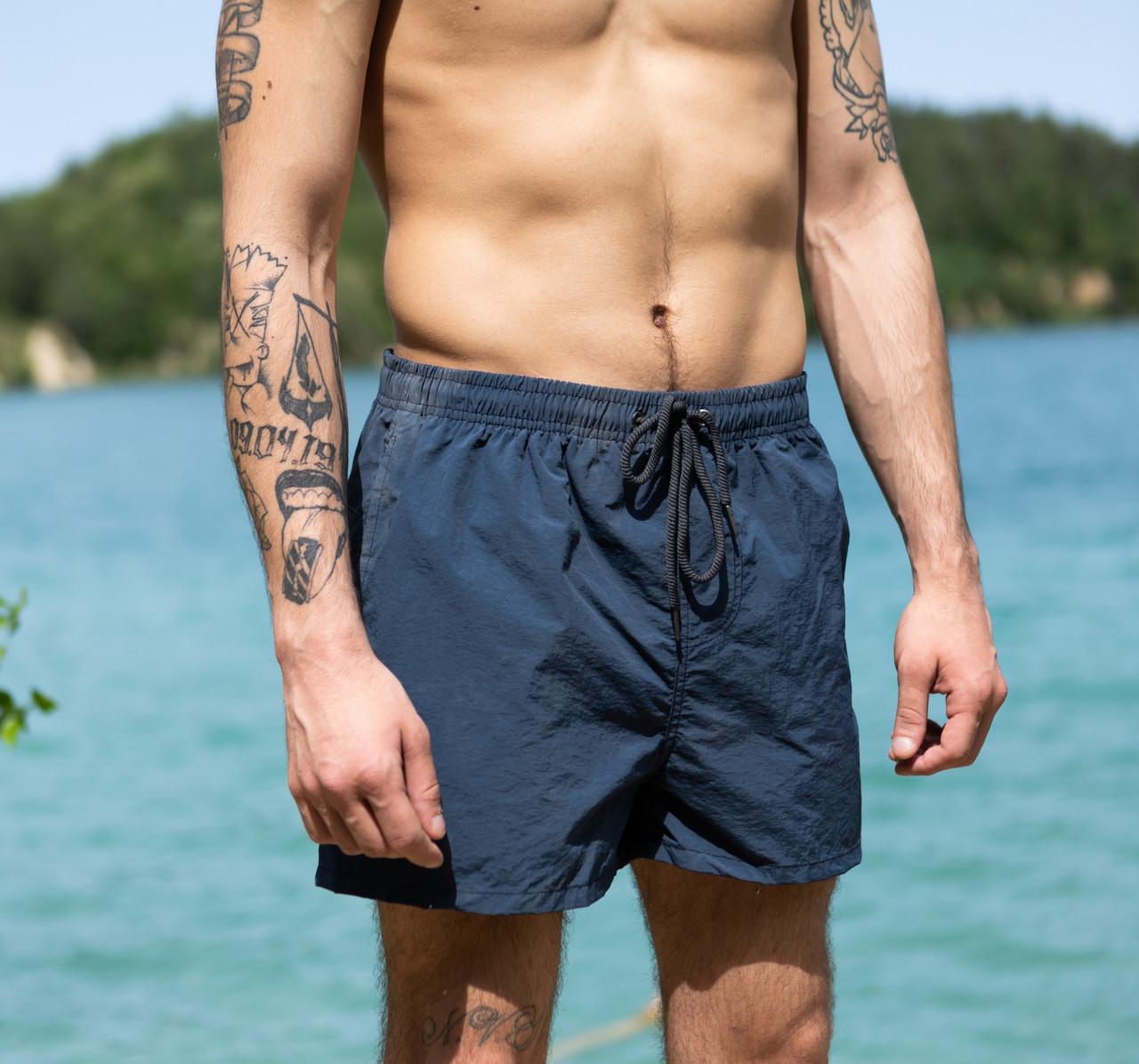 Чоловічі темно-сірі пляжні шорти