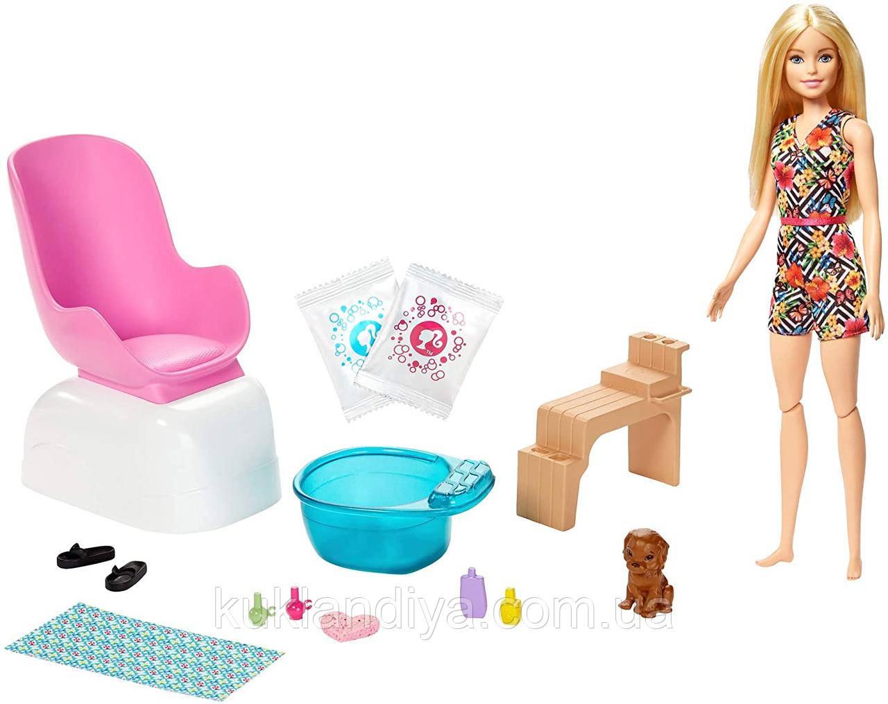 Барби набор Салон маникюр и педикюр Barbie Mani-Pedi Spa