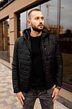 Мужская черная стеганая куртка, еврозима, фото 2