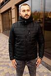 Мужская черная стеганая куртка, еврозима, фото 6