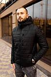 Мужская черная стеганая куртка, еврозима, фото 7