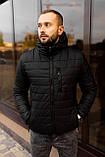 Мужская черная стеганая куртка, еврозима, фото 9