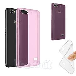 Прозорий силіконовий чохол для Huawei Honor 4C рожевий