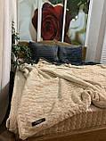 Велюровый Комплект постельного белья  Волна двухсторонний Серо - бежевый, фото 2