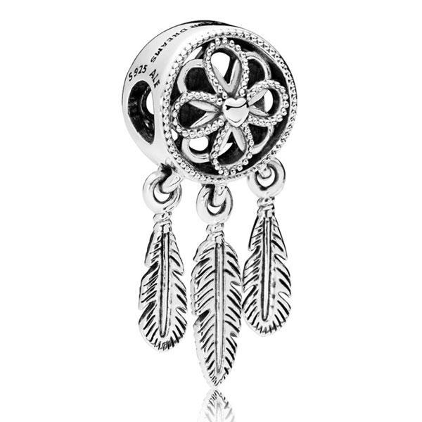 Срібний шарм підвіска для браслета Пандора Ловець Снів