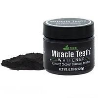 Відбілювач зубів Miracle Teeth Whitener, чорна зубна паста