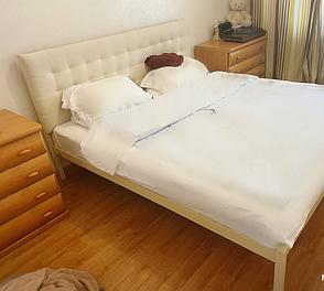 Кровать Глория металлическая с мягким изголовьем, фото 2
