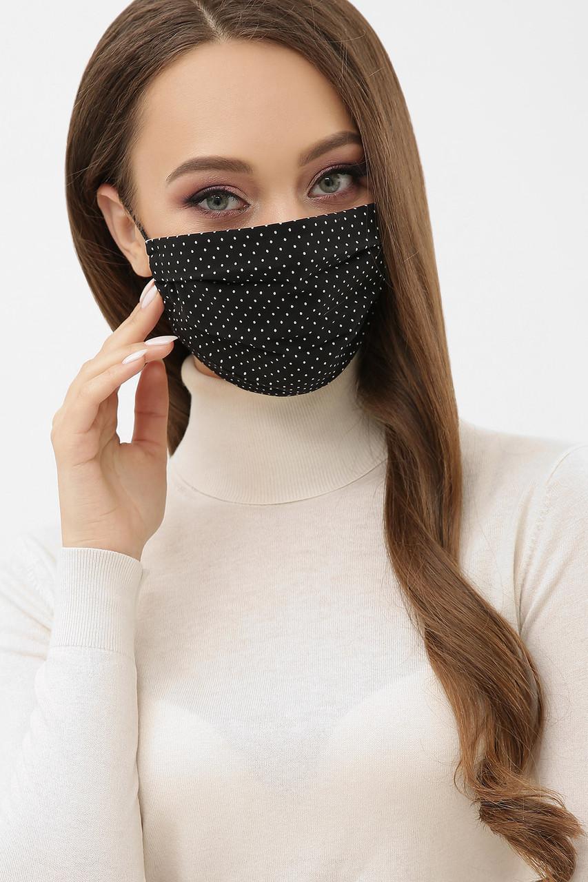 Маска защитная многоразовая черная из ткани